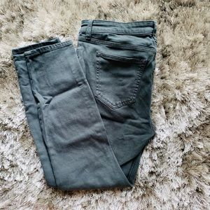 GAP Stretch Skinny Jeans Worn 3x DARK GREEN COLOR